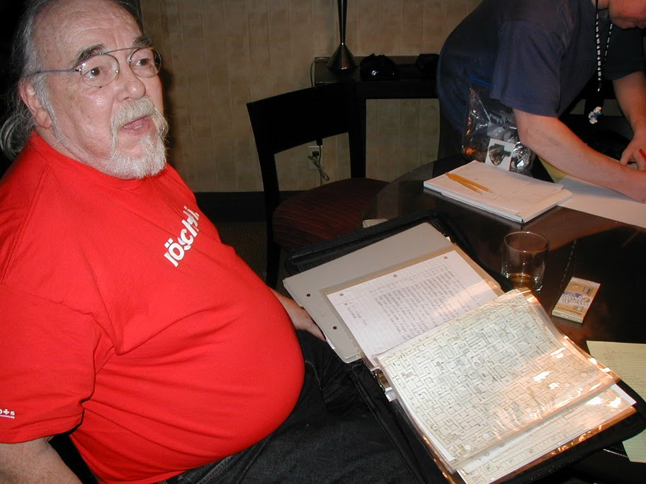 Pic of Gary Gygax and his Dungeon
