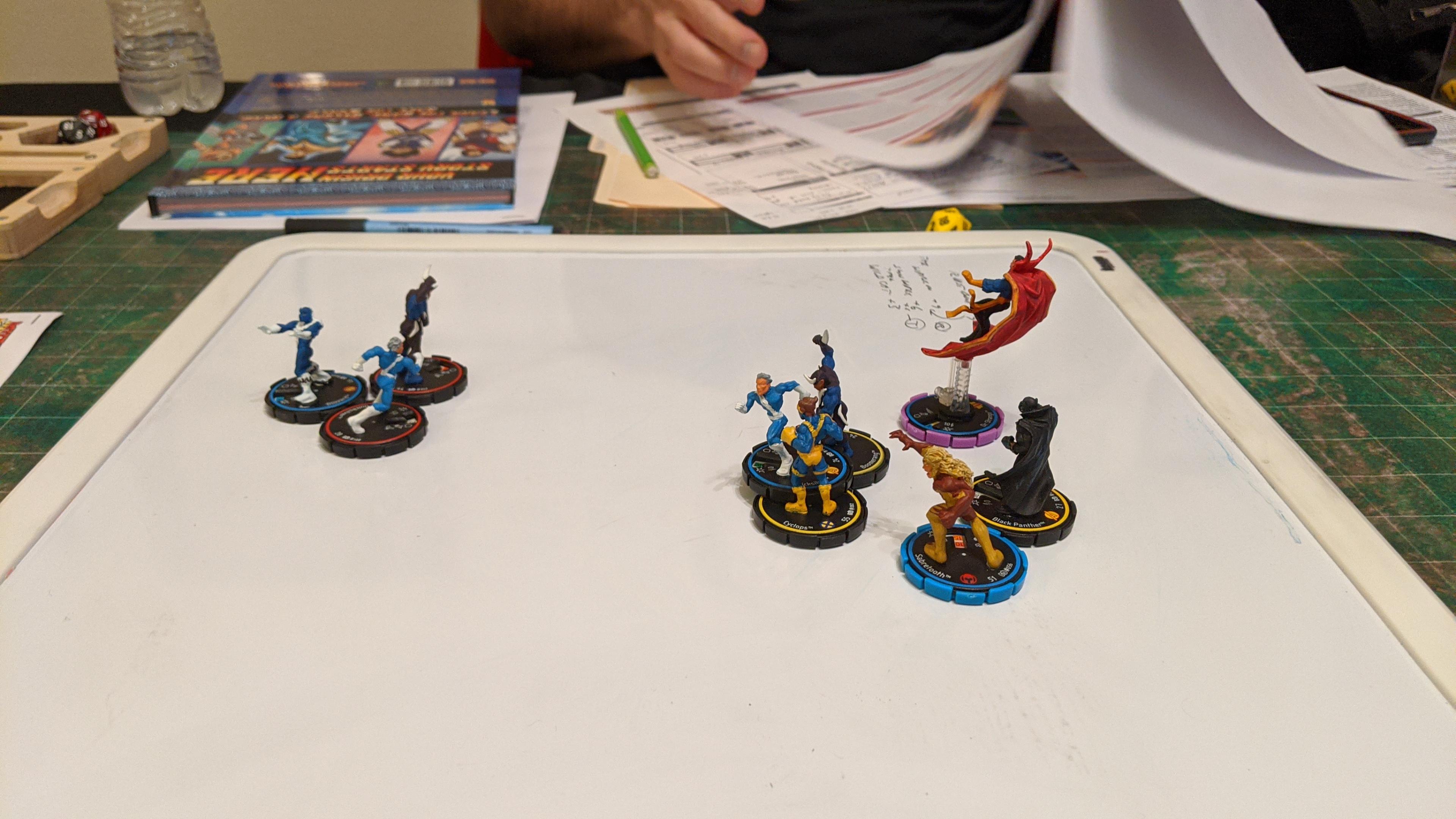 Using Heroclix Miniatures