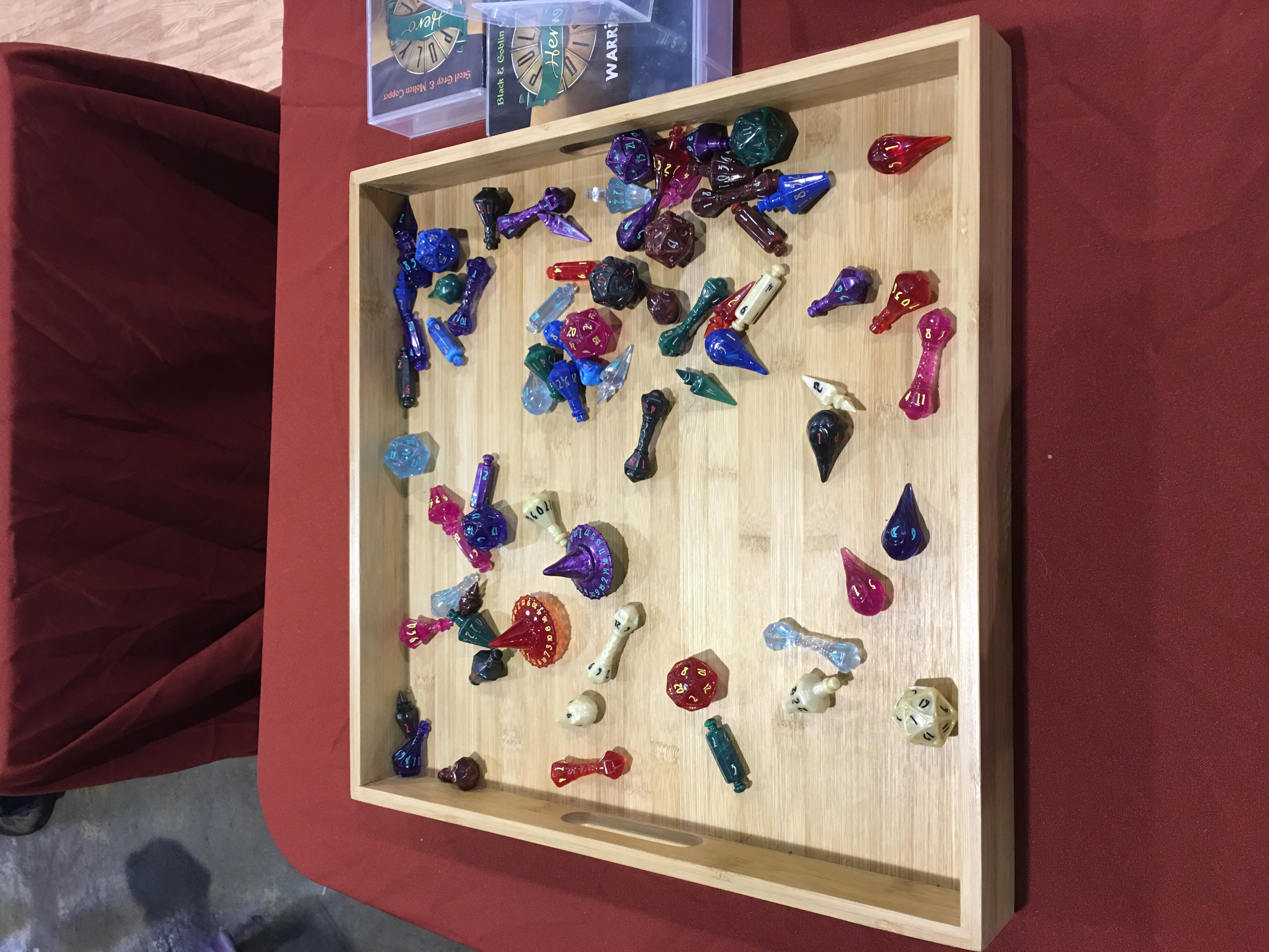 Pre-Release Dice on Display