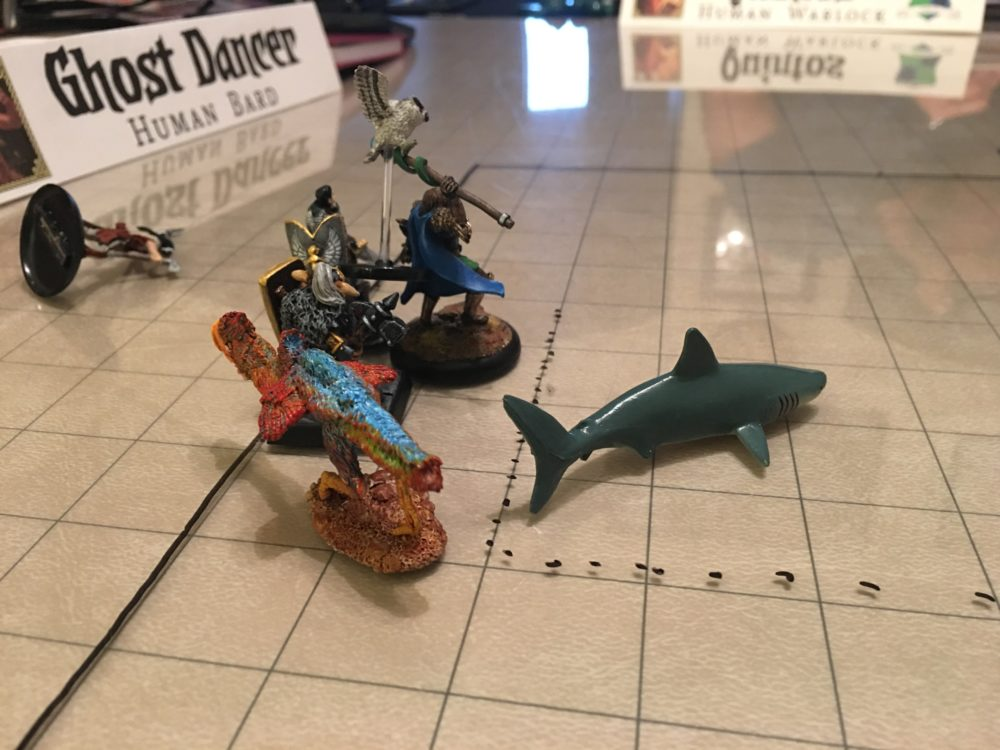 Ghost becomes a shark to investigate
