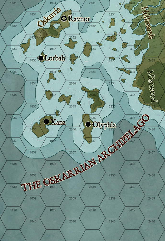 Oskarrian Archipelago (Click to Enlarge)