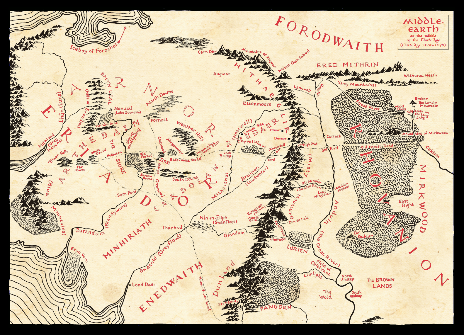 Middle-earth in T.A. 1640