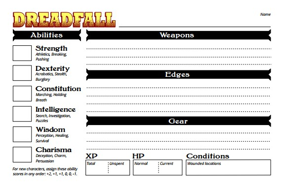dreadfall-character-sheets