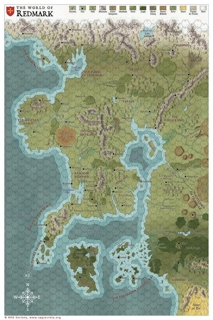 World of Redmark Map