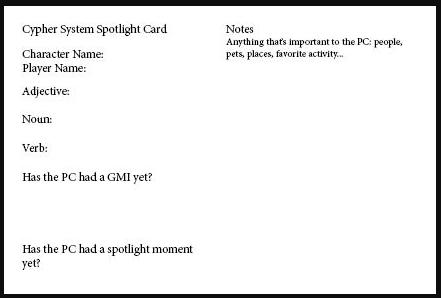 Sample Spotlight Card
